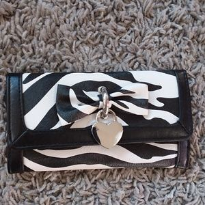 Claire's zebra pattern wallet trifold